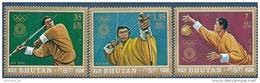 1972 BHOUTAN  PA 116-18** JO Munich - Bhoutan