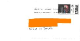 "Montimbrenligne Lettre Verte 20 Gr ""perroquet Ara"" Oiseau Bird Vogel Toshiba - France"