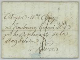 LàC 1801 De Marseille à Paris Avec Quantième 2 . A Nicolas Joseph 1er Comte De Clary , Beau-frère De Joseph Bonaparte . - Marcophilie (Lettres)