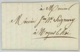 LàC 2e Restauration 30 Octobre 1815 . Sous-préfet De Dreux à Seigneury Lieutenant De La Garde Nationale à Nogent-le-Roi - Documents