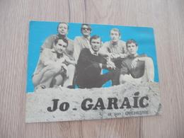 Musique Carte Postale Pub Jo Garaic Et Son Orchestre Capestang Taches - Musique & Instruments