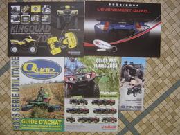 Lot Brochure Prospekt PROSPECTUS Quad POLARIS YAMAHA KYMCO SUZUKI - Motos