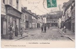 27 Eure -  IVRY-la-BATAILLE - La Grande Rue - Café - 1908 - Ivry-la-Bataille