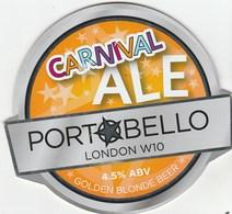 PORTOBELLO BREWERY (LONDON, ENGLAND) - CARNIVAL ALE - PUMP CLIP FRONT - Signs