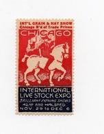 Erinnophilie Vignette Chicago International Live Stock Expo Brilliant Evening Shows - Vignetten (Erinnophilie)