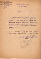 VP14.881 - MILITARIA - STRASBOURG 1922 - Note Du G.M.D.S.relative Au Soldat FROUSSARD Médecin à PARIS - Documents