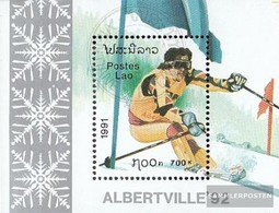 Laos Block137 (complete Issue) Fine Used / Cancelled 1991 Olympics Winter Games '92 - Laos