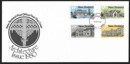 1980 - NEW ZEALAND - FDC + SG 1217/1220 + WANGANUI - FDC
