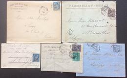 23 Gironde Soulac Sur Mer + St Emilion + Bordeaux Sage 25c Et 15c Et 10+5 - 1877-1920: Période Semi Moderne
