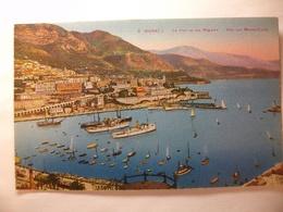 Carte Postale Monaco - Les Ports Et Les Régates - Vue Sur Monte-Carlo (Petit Format Couleur Non Circulée ) - Harbor