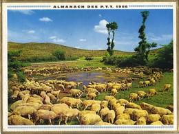 Calendrier PTT 1966 - Troupeaux En Aveyron ( Moutons - Brebis ) - Petit Format : 1961-70