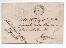 1854 - LETTRE FRANCHISE Avec CACHETS SARDES De SAN STEFANO / SAINT ETIENNE DE TINEE & S MARTINO DEL VARO (COMTE DE NICE) - Postmark Collection (Covers)