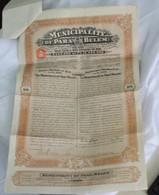 Municipality Of Para (Belem) Emprunt Or 1906 - Azioni & Titoli