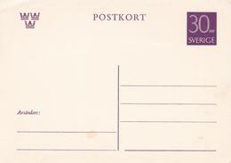 Sweden 30 Ore Postal StationaryPostcard Unused - Postal Stationery