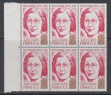France 1979 Simonne Weil 1v Bl Of 6 ** Mnh (42581A) - Ongebruikt
