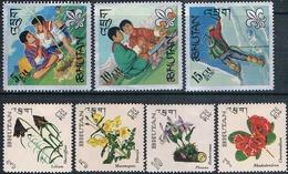 Bhutan 1967  -  Yvert  101 + 102 + 108 / 12   ( ** ) - Bhután