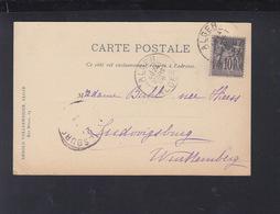 CP Alger 1898 Pour L'Allemagne - Frankreich (alte Kolonien Und Herrschaften)