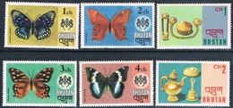 Bhutan 1975  -  Yvert  447 / 450 + 457 / 458   ( ** ) - Bhután
