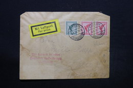ALLEMAGNE - Enveloppe Par Avion De Borkum Pour Halle En 1928 , Affranchissement Plaisant - L 28218 - Storia Postale