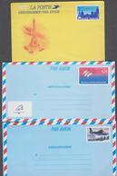 FRANCE 7 Entier Postal Aérogramme N°YT AER  1013-1017-1019-1020-1021-1022-1023 - Années 1984 à 2002 - Postal Stamped Stationery