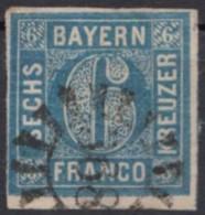 "MiNr. 10, Voll- Bis Breitrandig, Klar ""368"" - Bayern"