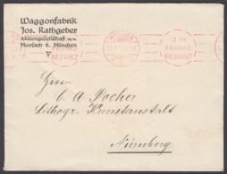 """""""3 Pfg., Franko, Bezahlt"""", """"München"""", 11.11.11, Roter Rollstempel - Bavaria"""