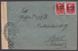 MiNr. 119/20, Bedarfsbrief In Die Schweiz Mit Zensur! - Bayern