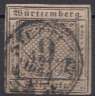 """MiNr. 4 A, Vollrandig, Zentriert """"Stuttgart"""" - Wuerttemberg"""