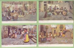 8 CPA Dos Simple : Scènes De Rue à Venise. Venezia. TBE.  2 Scans. Edition AP - Otros Ilustradores