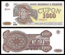 Moldova 1000 CUPON 1993 P 3 UNC (Moldavie, Moldavia, Moldawien, Moldavië) - Moldova