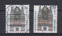 Bund 2187 BC + BD Aus MH 43 SWK (XXVI) 10 Pf/ 0,05 Cent Gestempelt - BRD