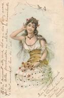 CPA - Thèmes - Illustrateur - 1901 - Femme Assise - Autres Illustrateurs