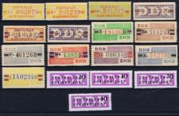 DDR Zentraler Kurierdienst 17 Stamps Postfrisch/neuf Sans Charniere /MNH/** - [6] Oost-Duitsland
