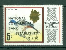 Trinidad & Tobago: 1970   Inauguration Of National Commercial Bank OVPT  MH - Trinidad & Tobago (1962-...)