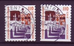 Bund 2189 BC + BD Aus MH 43 SWK (XXVI) 110 Pf/ 56 Cent Gestempelt   - BRD