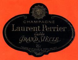 étiquette De Champagne Brut Cuvée Grand Siècle Laurent Perrier à Tours Sur Marne - 75 Cl - Champagne