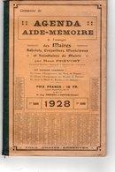 AGENDA AIDE MEMOIRE à L'usage Des Maires Adjoints Municipaux Et Secrétaires De Mairie 1928 106 Pages - Recht