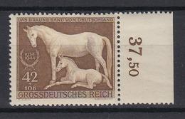 Dt. Reich 899 Mit Oberrand Galopprennen Das Braune Band München Riem 42+108 Pf/1 - Deutschland