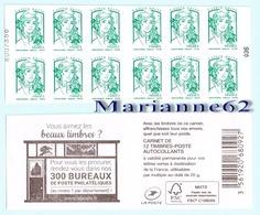 France 2017 Carnet Marianne LV Sans 20g - NUMEROTE ! 300 Bureaux Philatéliques - CIAPPA Olivier & KAWENA David - Neuf - Carnets