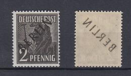 Berlin 1 Schwarzaufdruck 2 Pf Mit Abklatsch Auf Der Gummiseite Postfrisch - Berlin (West)