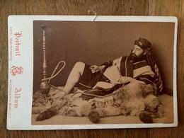 """"""" Fumeur De Narguilé """" - Nargil - Perse Arabie Asie Afrique - Photo CDV Albumine Circa 1860/1880 - Tabac Tabacco - Iran"""