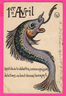 CPA (Ref: Z 1376) ) 1er AVRIL POISSON D'AVRIL (hameçon) - 1° Aprile (pesce Di Aprile)