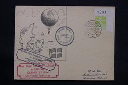DANEMARK - Carte Par Ballon En 1955 Pour Rotterdam - L 28235 - Cartas