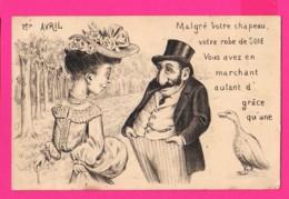 CPA (Ref: Z 1396) ) 1er AVRIL POISSON D'AVRIL Histoire De L'oie - 1er Avril - Poisson D'avril