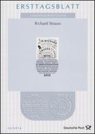 ETB 22/2014 Richard Strauss, Komponist - FDC: Vellen