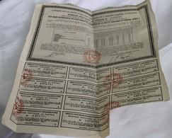 Recipissé Provisoire Des Bons Représentatifs Des Annuités Arrièrès De La Dette Publique Ottomane , Serie A - 500FR - Shareholdings