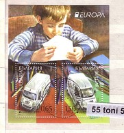 2013, Europa / CEPT Transport  S/S  – Used /oblitere (O)Bulgaria /Bulgarie - Hojas Bloque