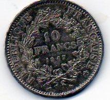 Sam - Piéce , Monnaie , France , 10 Francs HERCULE , 1967, Argent , Silver - K. 10 Francs