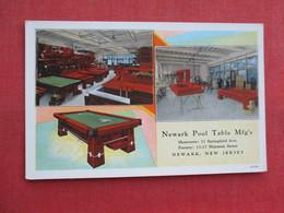 Newark Pool Table Mfg. Newark  - New Jersey >   Ref 3315 - Advertising