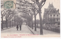 27 Eure -  IVRY-la-BATAILLE - Perspective Du Boulevard De La Gare - 1910 - Ivry-la-Bataille